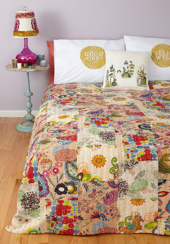 All in a Day's Patchwork Quilt by Karma Living - Cotton, Woven, Multi, Boho, Best, Print