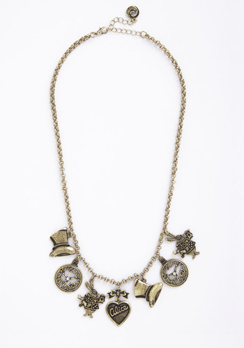 Book Club Classic Necklace - Solid, Fairytale, Gold, Exclusives, Scholastic/Collegiate, Nifty Nerd, Gals