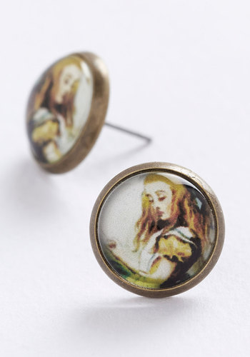 Inspired Imagination Earrings - Multi, Fairytale, Gold, Novelty Print, Scholastic/Collegiate, Nifty Nerd, Gals