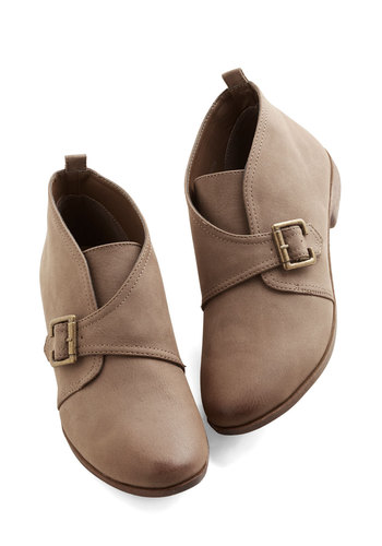 Off-Road to Success Bootie by Restricted - Tan, Solid, Buckles, Casual, Good