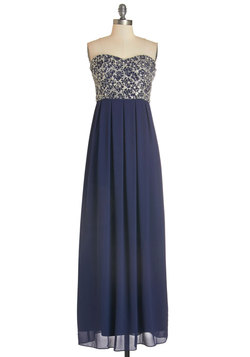 Mint Magnificence Dress in Navy