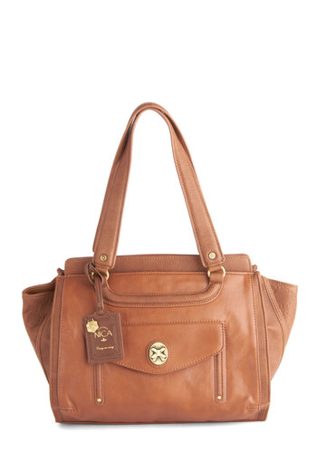 Daylong for the Ride Bag by Nica - Brown, Solid, Luxe, Faux Leather
