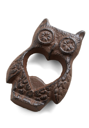 Hoot Wants a Cold One? Bottle Opener - Bronze, Owls, Good, Solid, Critters, Woodland Creature, Rustic, Under $20
