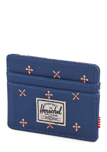 Time Well Spent Cardholder by Herschel Supply Co. - Blue, White, Print, Casual, Nautical, Red