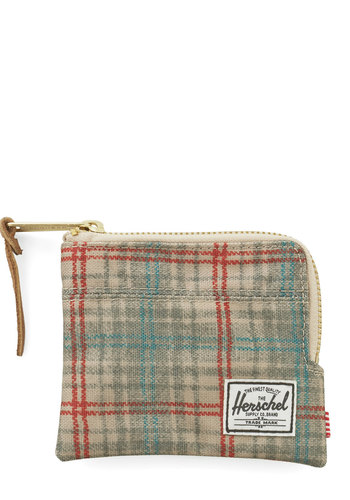 Design Language Wallet by Herschel Supply Co. - Grey, Multi, Plaid, Casual, Fall, Travel
