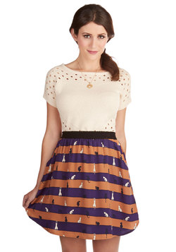 Playful Speed Ahead Skirt