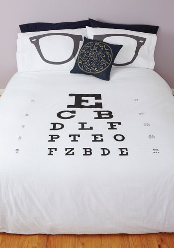 See You in Dreamland Duvet Cover in Full/Queen - Cotton, Woven, Multi, Nifty Nerd, Best, Novelty Print, Exclusives