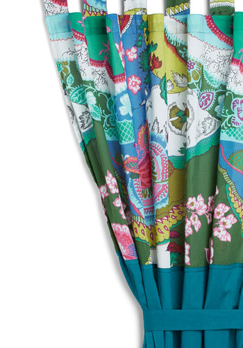 Lively Room Curtain by Karma Living - Cotton, Blue, Boho, Print, Mid-Century, Better, Top Rated, 4th of July Sale