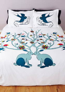 Too Cute to be True Duvet Cover in Full/Queen