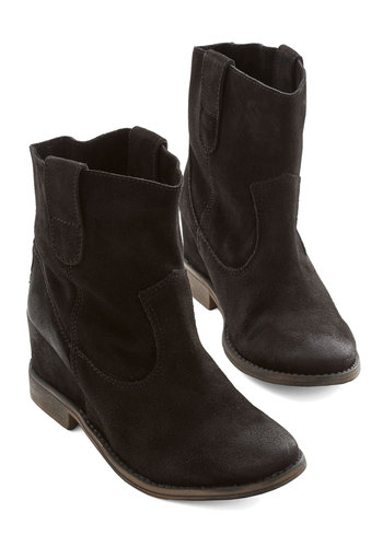 Outta Sight Boot in Black - Leather, Black, Solid, Festival, Best, Mid, Wedge, Boho