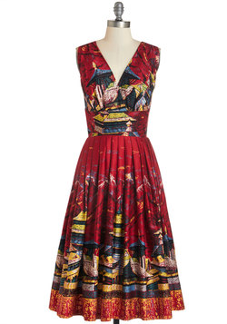 Travelin' Twirl Dress in Sightseeing