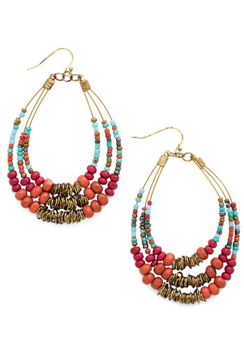Festive is Yet to Come Earrings - Multi, Solid, Beads, Statement, Urban, Fall