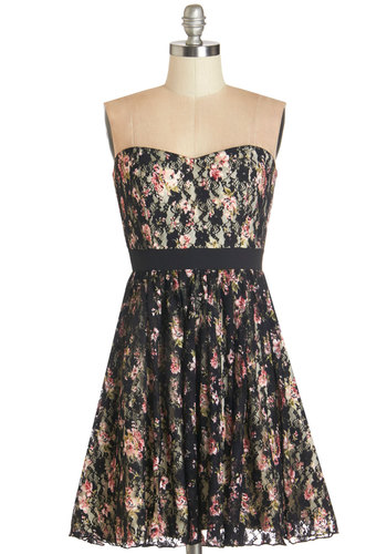 Are We There Pirouette Dress - Multi, Floral, Lace, Party, A-line, Strapless, Summer, Woven, Lace, Better, Sweetheart, Fall
