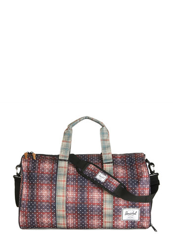 Design Language Weekend Bag by Herschel Supply Co. - Red, Multi, Plaid, Exposed zipper, Casual, Fall