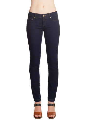 Fashion Philosophy Jeans - Skinny, Denim, Good, Low-Rise, Full length, Blue, Dark Wash, Denim, Knit, Blue, Solid, Pockets, Casual, Basic