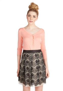 Contrasting Impression Skirt
