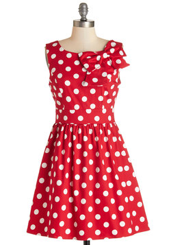 The Pennsylvania Polka Dress in Ruby Dots