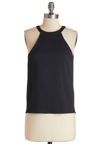 Work of Montmartre Top - Black, Solid, Backless, Party, Girls Night Out, Sleeveless, Black, Sleeveless