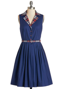 Beacon of Charm Dress in Plaid