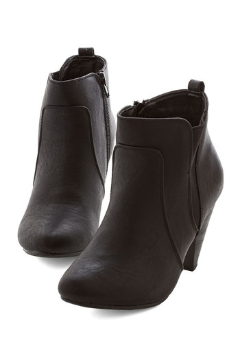 Bustling but Beautiful Bootie in Black - Mid, Black, Solid, Urban, Minimal, Good, Variation