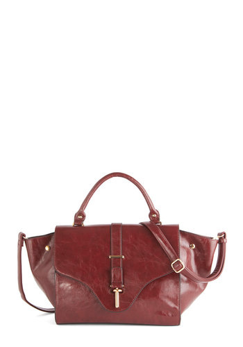 Around Uptown Bag by Melie Bianco - Red, Solid, Work, Red, Fall, Winter