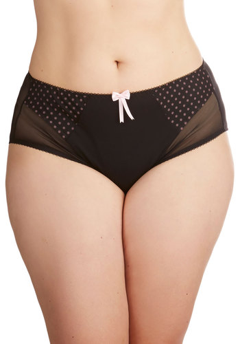 Miss Fabulous Undies in Plus Size - Sheer, Knit, Black, Pink, Solid, Polka Dots, Bows, Boudoir