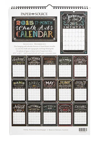 Pleasurable Planning 2014-2015 Wall Calendar - Multi, Dorm Decor, Good, Novelty Print, Work, Gals, Guys