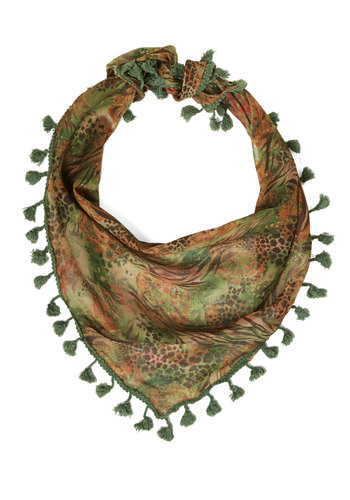 Pine of the Times Scarf - Green, Multi, Floral, Casual, Green, Woven, Tassels, Vintage Inspired, Fall