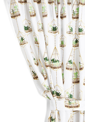 Terrific Terrarium Curtain - Cotton, Multi, Rustic, Better, Novelty Print, Exclusives