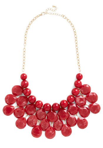 At the Last Minute Necklace in Cinnamon - Solid, Chain, Boho, Statement, Urban, Darling, Gold, Red, Beads