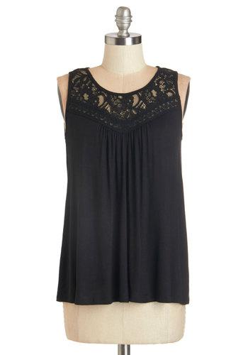 Sweet-Spirited Top in Black