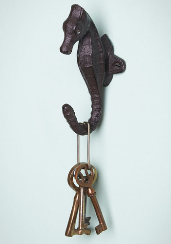 Go out and Sea Wall Hook - Black, Nautical, Good, Solid, Critters