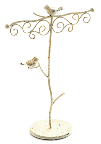A Little Bird Hold Me Jewelry Stand - Dorm Decor, French / Victorian, Rustic, Good, Cream, Solid, Critters, Gals, Bird