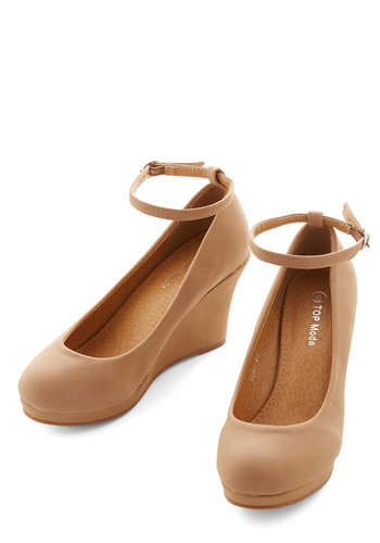The Cutest Commute Wedge - Mid, Tan, Solid, Work, Wedge