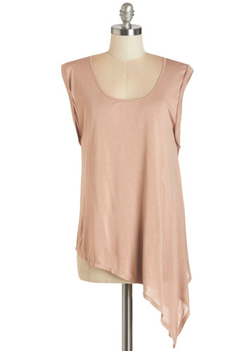 Weekend Wonder Top - Jersey, Knit, Pink, Solid, Casual, Cap Sleeves, Scoop, Pink, Short Sleeve