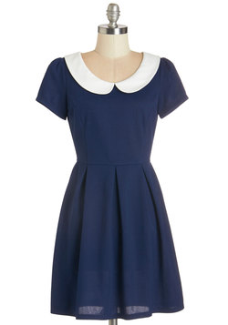 Record Time Dress in Navy