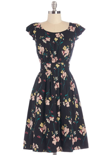 Get What You Dessert Dress in Midnight Blossoms