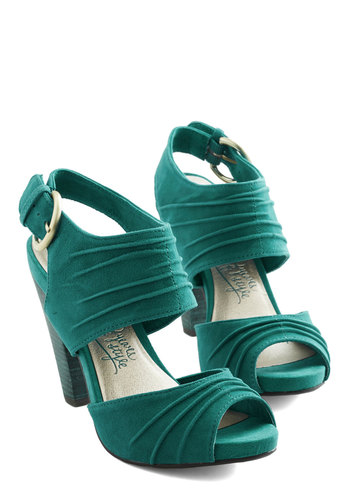 Gypsy Heel by Seychelles - High, Leather, Suede, Green, Solid, Wedding, Party, Girls Night Out, Peep Toe