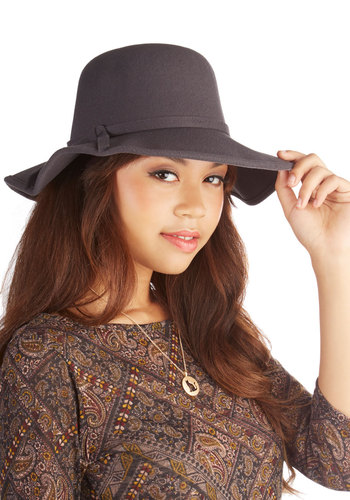 Topper the Morning Hat in Grey - Grey, Solid, Boho, Urban, Darling, Variation, Fall, Winter
