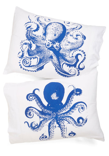 Maritime and Tide Pillowcase Set - Multi, Nautical, Better, Blue, Print with Animals, Critters, Exclusives, Novelty Print, Spring, Summer