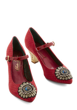 Sweeten Your Steps Heel in Rouge