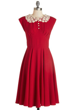Dancing Date Dress in Rouge