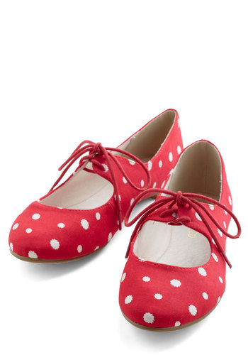 Professor of Pop Flat - Red, White, Polka Dots, Flat, Mary Jane, Good, Top Rated
