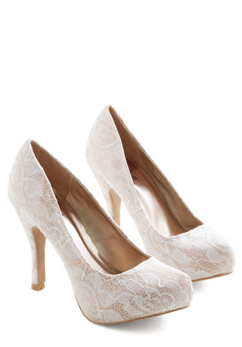 Soft Steps Heel - White, Solid, Lace, Wedding, Bride, Good, High, Best Seller, 4th of July Sale