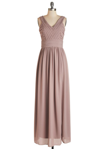 Starlit Slow Dance Dress - Long, Woven, Blush, Solid, Special Occasion, Homecoming, Maxi, Sleeveless, Better, V Neck, Prom, Wedding, Bridesmaid