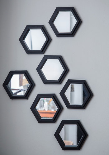 Geometric Makeover Wall Mirror Set - Black, Better, Minimal, Wedding