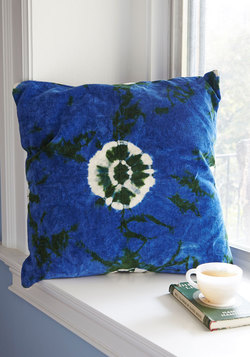 Life's Little Luxuries Pillow in Deep Sea