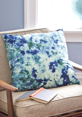 Life's Little Luxuries Pillow in Tidal Pool by Karma Living - Cotton, Velvet, Multi, Boho, Better, Blue, Tie Dye, Variation, Graduation