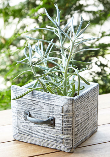 Open the Drawer Planter by One Hundred 80 Degrees - Rustic, Good, Grey, Gals, Hostess, Wedding, Press Placement