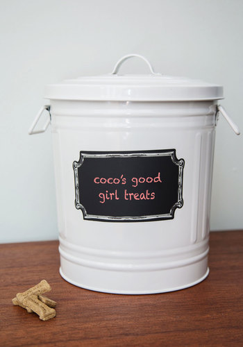 Chalk it Up to Cute Container - White, Rustic, Good, Gals, Dog